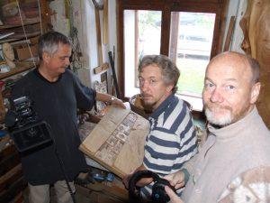 kus dřeva, natáčení