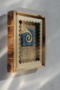 kniha dřevěná - poštovní